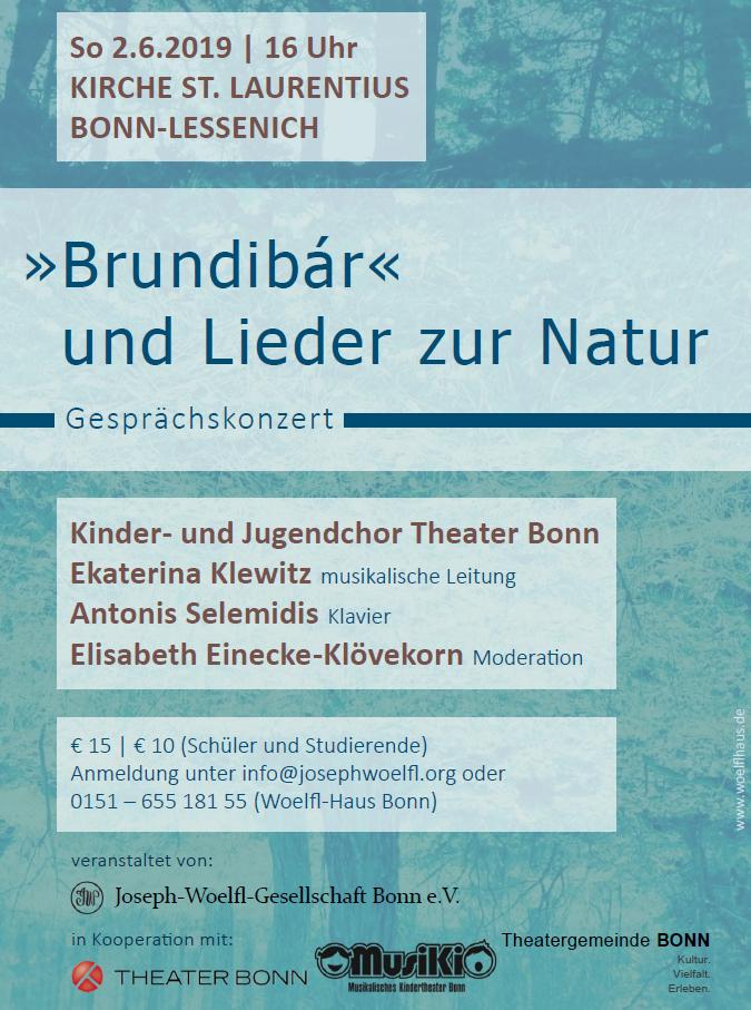 Plakat Gesprächskonzert:Brundibár und Lieder zur Natur
